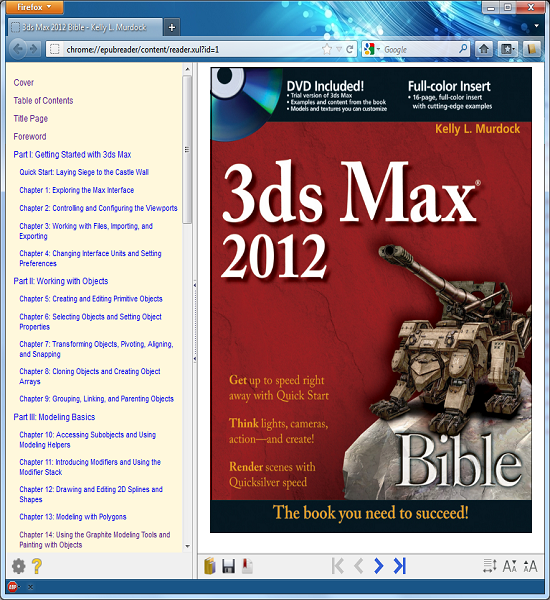 epub Reader for Firefox